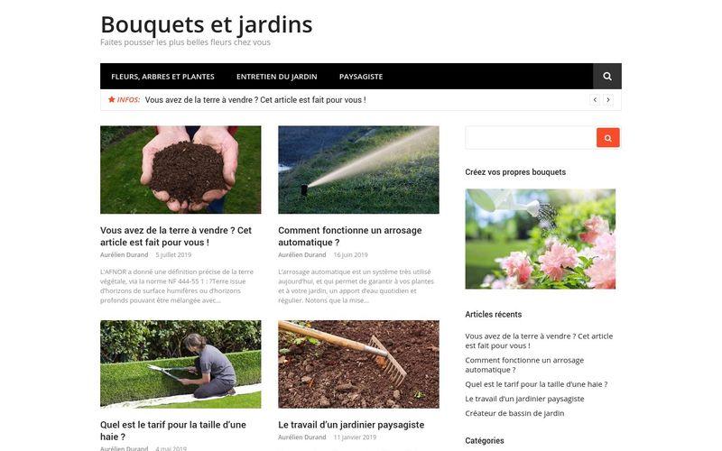 Bouquets et jardins - Faites pousser les plus belles fleurs chez vous