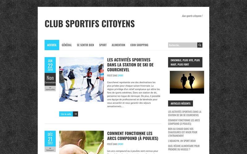 Club sportifs citoyens - Aux sports citoyens !