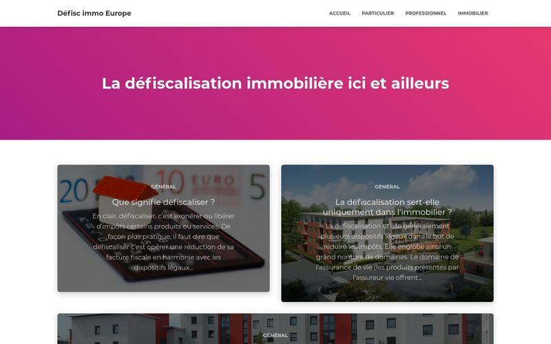 Défisc immo Europe - La défiscalisation immobilière ici et ailleurs