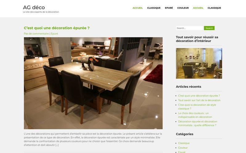 AG déco - Le site des experts de la décoration