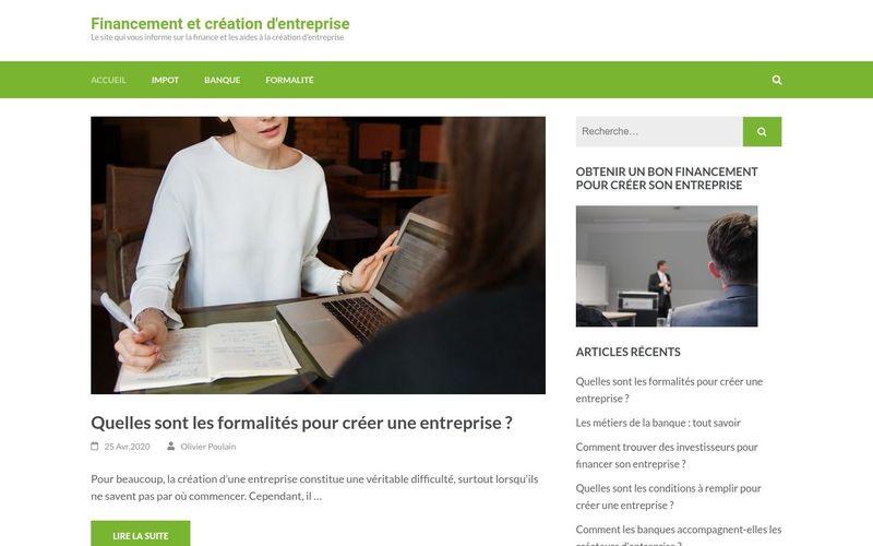 Financement et création d'entreprise - Le site qui vous informe sur la finance et les aides à la création d'entreprise