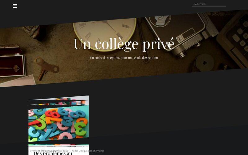 Un collège privé - Un cadre d'exception, pour une école d'exception