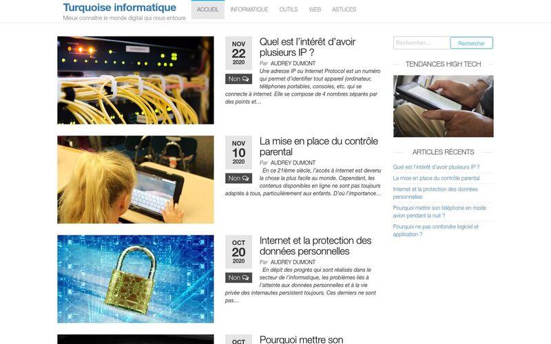 Turquoise informatique - Mieux connaître le monde digital qui nous entoure