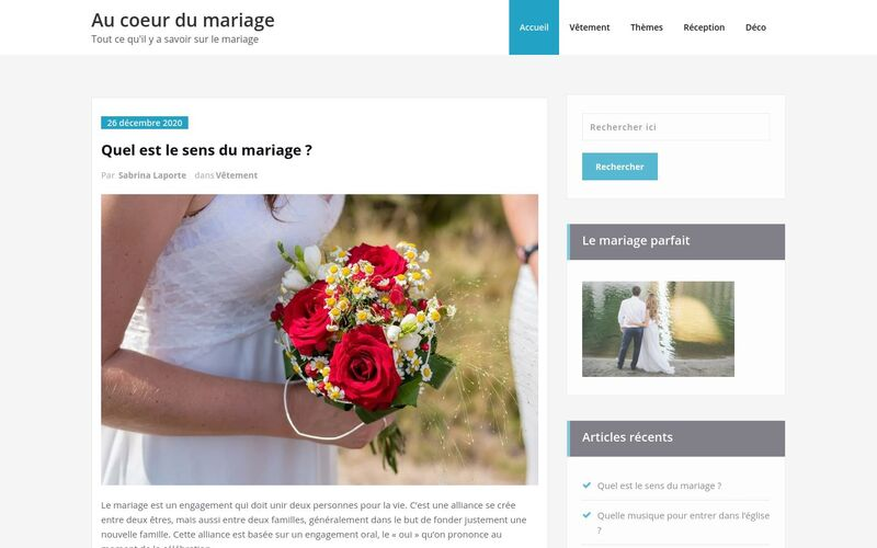 Au coeur du mariage - Tout ce qu'il y a savoir sur le mariage